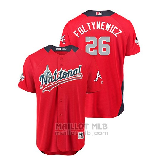 Maillot Baseball Homme All Star Game Atlanta Braves Mike Foltynewicz 2018 Domicile Run Derby National League Rouge