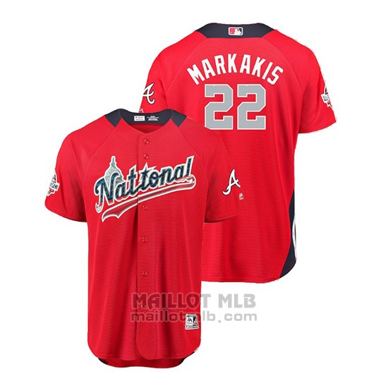 Maillot Baseball Homme All Star Game Atlanta Braves Nick Markakis 2018 Domicile Run Derby National League Rouge