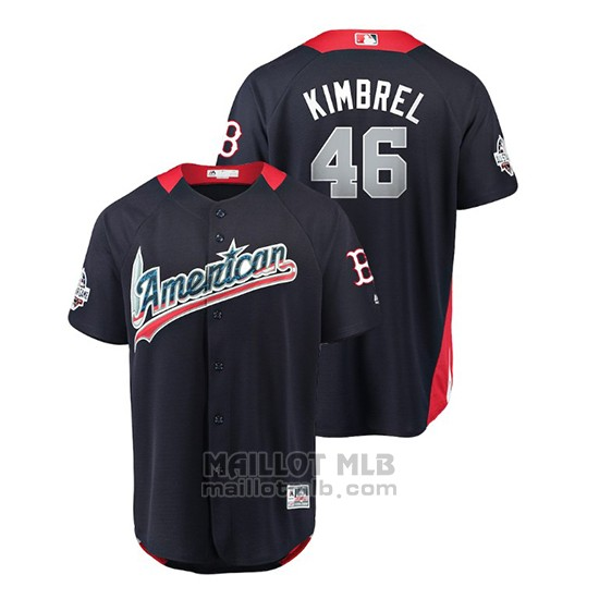 Maillot Baseball Homme All Star Game Boston Red Sox Craig Kimbrel 2018 Domicile Run Derby American League Bleu
