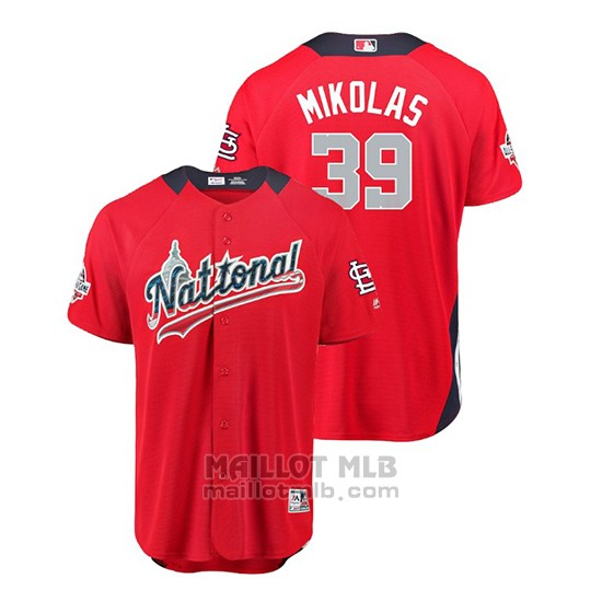 Maillot Baseball Homme All Star Game Cardinals Miles Mikolas 2018 Domicile Run Derby National League Rouge