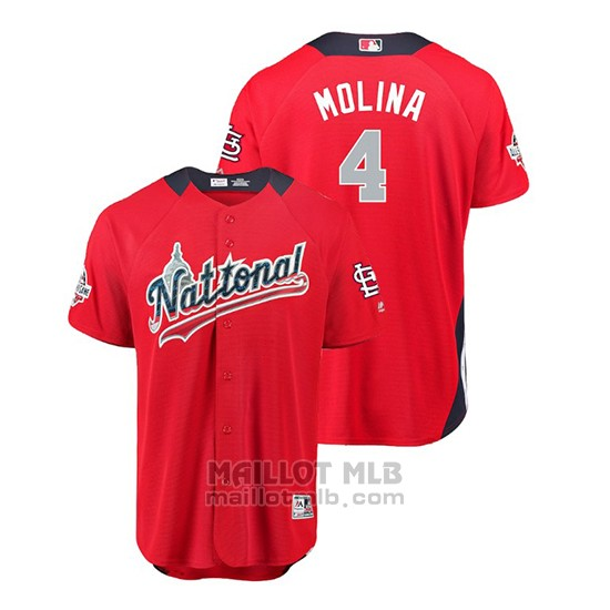 Maillot Baseball Homme All Star Game Cardinals Yadier Molina 2018 Domicile Run Derby National League Rouge
