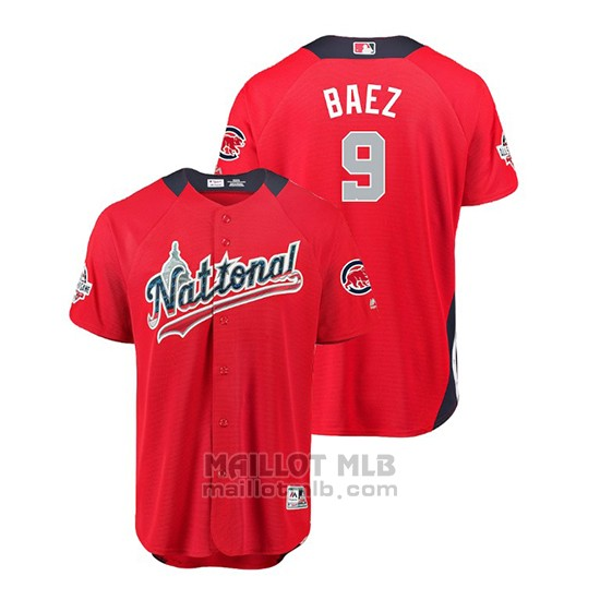 Maillot Baseball Homme All Star Game Chicago Cubs Javier Baez 2018 Domicile Run Derby National League Rouge