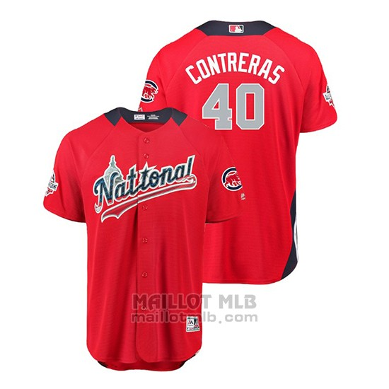Maillot Baseball Homme All Star Game Chicago Cubs Willson Contreras 2018 Domicile Run Derby National League Rouge