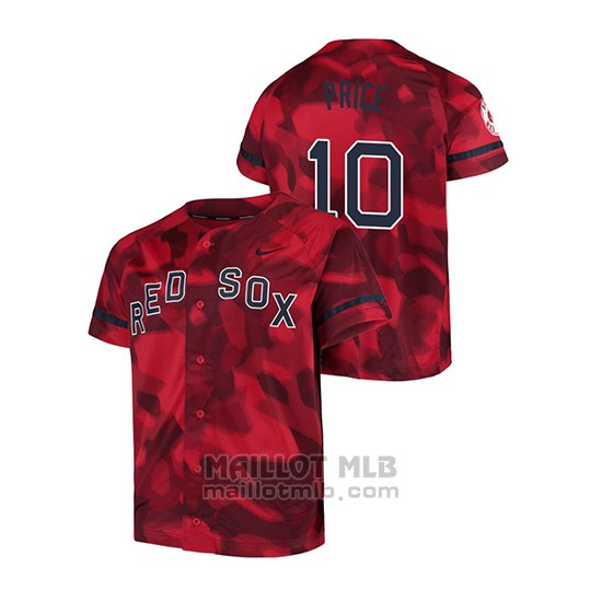 Maillot Baseball Hombre Boston Red Sox David Price Camouflage Authentique Collezione Rouge