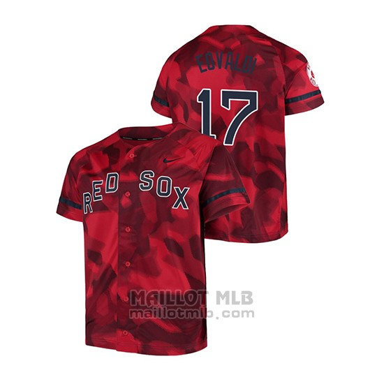 Maillot Baseball Hombre Boston Red Sox Nathan Eovaldi Camouflage Authentique Collezione Rouge