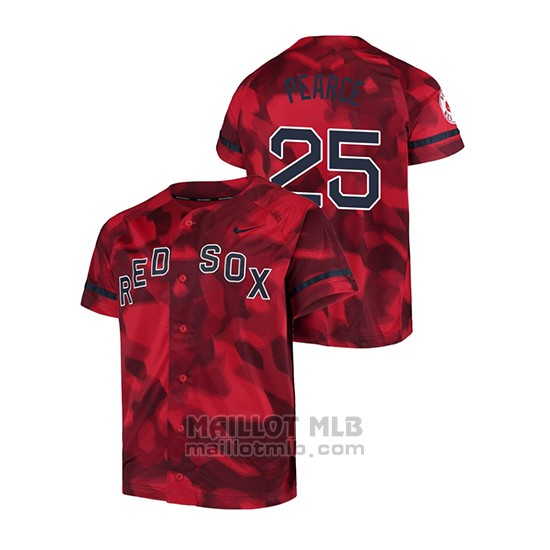 Maillot Baseball Hombre Boston Red Sox Steve Pearce Camouflage Authentique Collezione Rouge