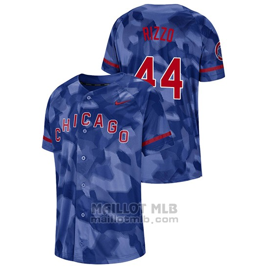 Maillot Baseball Hombre Chicago Cubs Anthony Rizzo Camouflage Authentique Collezione Bleu