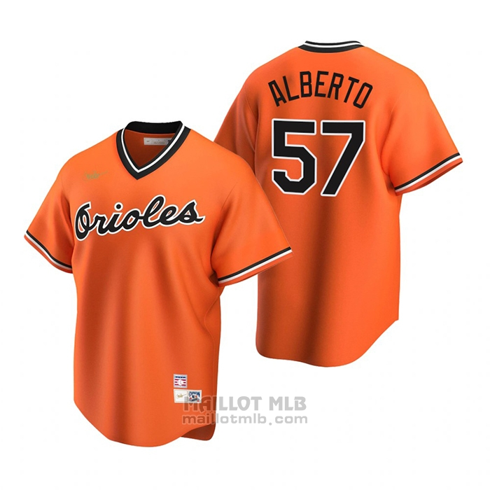 Maillot Baseball Homme Baltimore Orioles Hanser Alberto Cooperstown Collection Alterner Orange