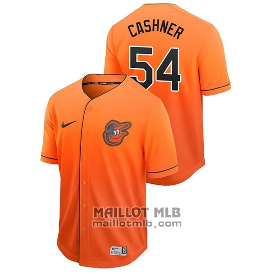 Maillot Baseball Homme Baltimore Orioles Andrew Cashner Fade Authentique Orange