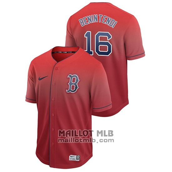 Maillot Baseball Homme Boston Red Sox Andrew Benintendi Fade Authentique Rouge