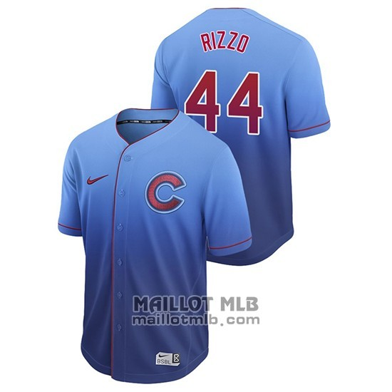 Maillot Baseball Homme Chicago Cubs Anthony Rizzo Fade Authentique Bleu