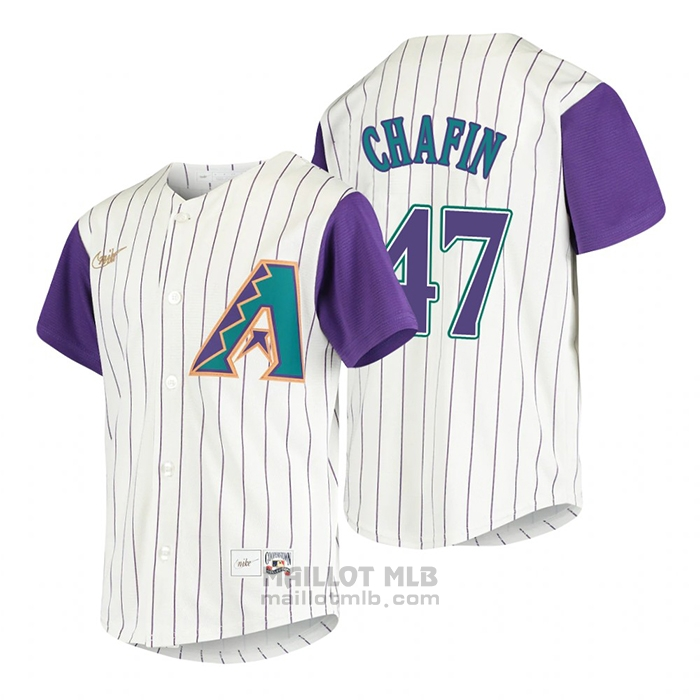 Maillot Baseball Enfant Arizona Diamondbacks Andrew Chafin Cooperstown Collection Alterner Creme
