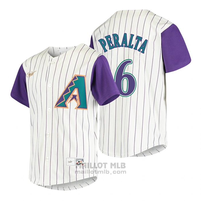 Maillot Baseball Enfant Arizona Diamondbacks David Peralta Cooperstown Collection Alterner Creme