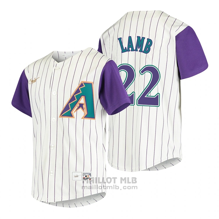 Maillot Baseball Enfant Arizona Diamondbacks Jake Lamb Cooperstown Collection Alterner Creme