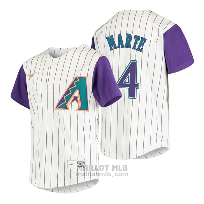 Maillot Baseball Enfant Arizona Diamondbacks Ketel Marte Cooperstown Collection Alterner Creme