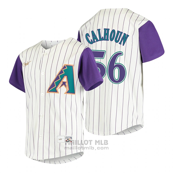 Maillot Baseball Enfant Arizona Diamondbacks Kole Calhoun Cooperstown Collection Alterner Creme