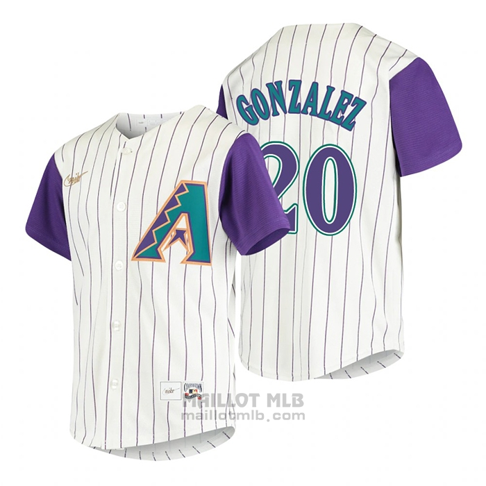 Maillot Baseball Enfant Arizona Diamondbacks Luis Gonzalez Cooperstown Collection Alterner Creme