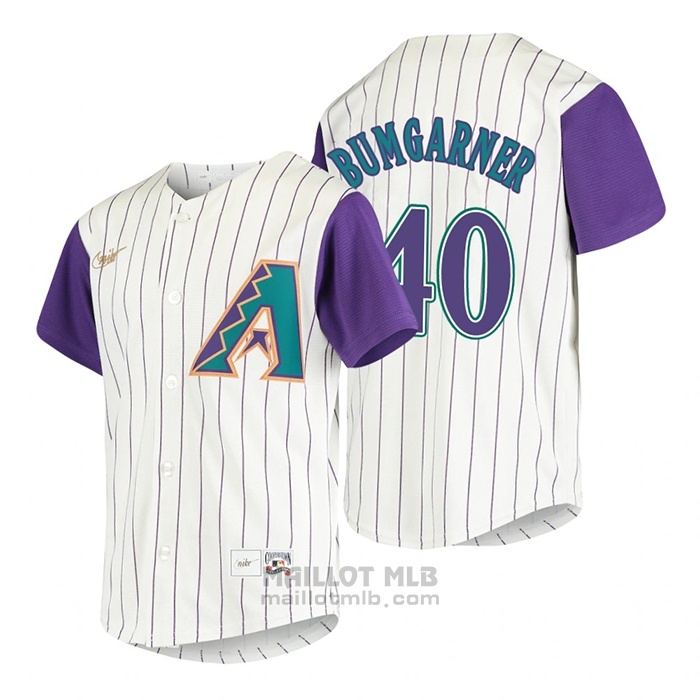 Maillot Baseball Enfant Arizona Diamondbacks Madison Bumgarner Cooperstown Collection Alterner Creme
