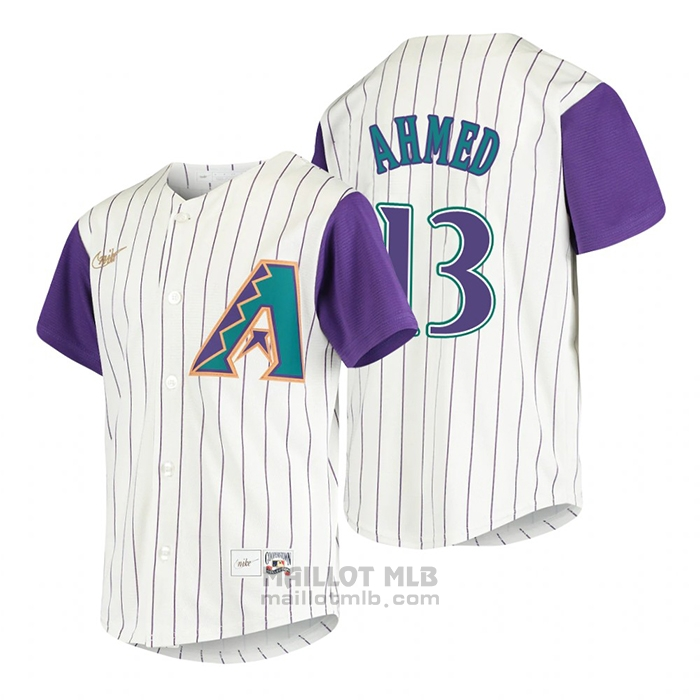 Maillot Baseball Enfant Arizona Diamondbacks Nick Ahmed Cooperstown Collection Alterner Creme