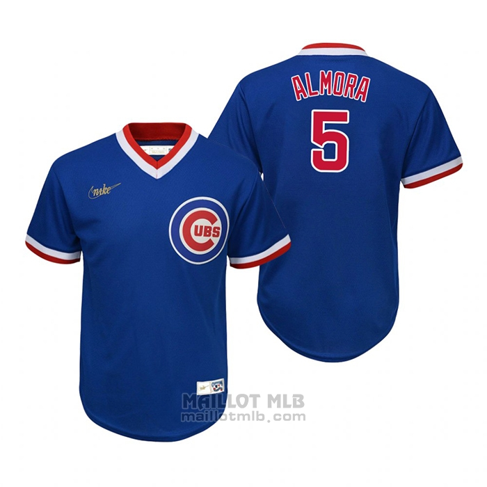Maillot Baseball Enfant Chicago Cubs Albert Almora Jr. Cooperstown Collection Road Bleu