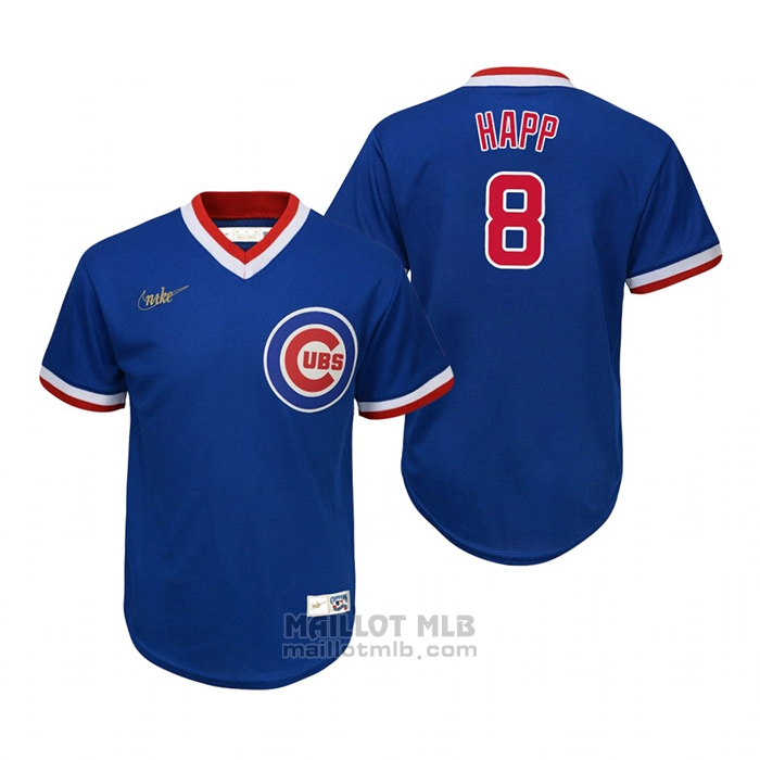 Maillot Baseball Enfant Chicago Cubs Ian Happ Cooperstown Collection Road Bleu