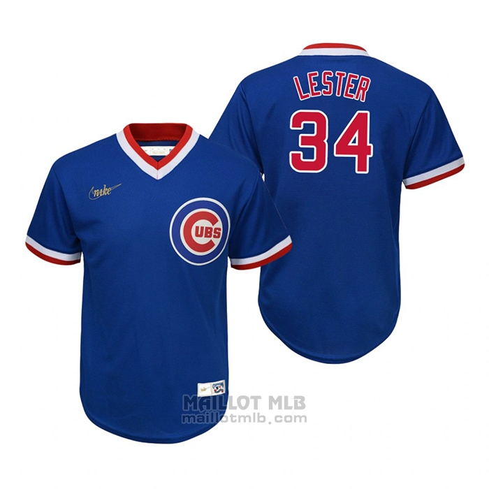 Maillot Baseball Enfant Chicago Cubs Jon Lester Cooperstown Collection Road Bleu