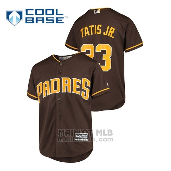 Maillot Baseball Enfant San Diego Padres Fernando Tatis Jr. Cool Base Alterno Marron