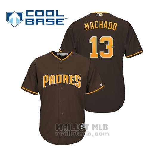 Maillot Baseball Enfant San Diego Padres Manny Machado Cool Base Majestic Marron