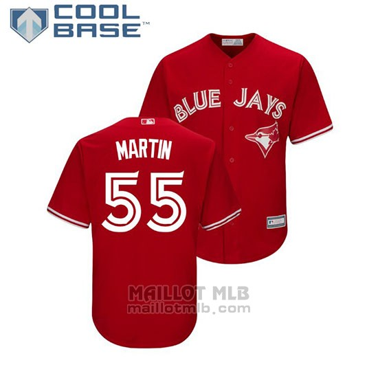 Maillot Baseball Enfant Toronto Blue Jays Russell Martin Cool Base Replique Rouge