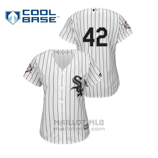 Maillot Baseball Femme Chicago White Sox 2019 Jackie Robinson Day Cool Base Blanc