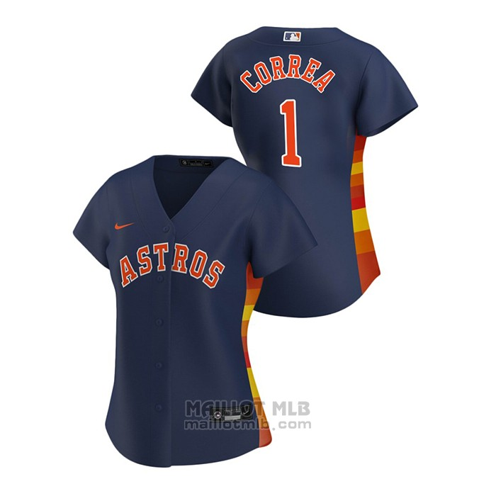 Maillot Baseball Femme Houston Astros Carlos Correa 2020 Replique Alterner Bleu