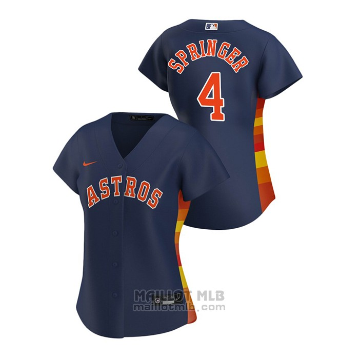 Maillot Baseball Femme Houston Astros George Springer 2020 Replique Alterner Bleu
