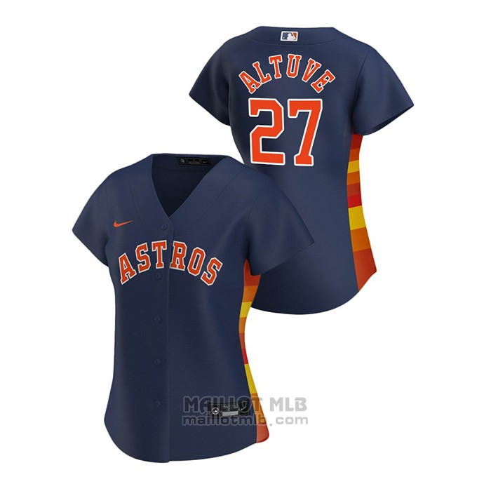 Maillot Baseball Femme Houston Astros Jose Altuve 2020 Replique Alterner Bleu