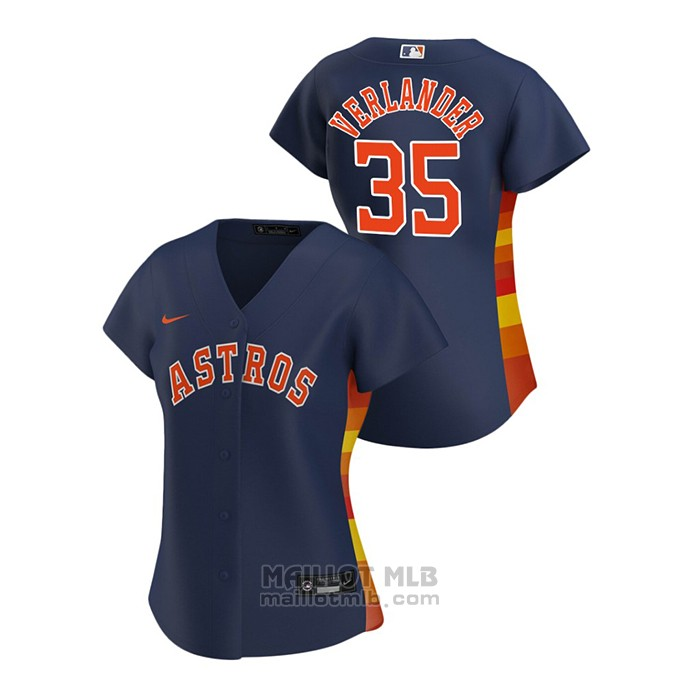 Maillot Baseball Femme Houston Astros Justin Verlander 2020 Replique Alterner Bleu