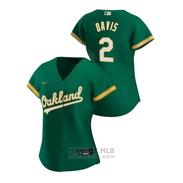 Maillot Baseball Femme Oakland Athletics Khris Davis 2020 Replique Alterner Vert