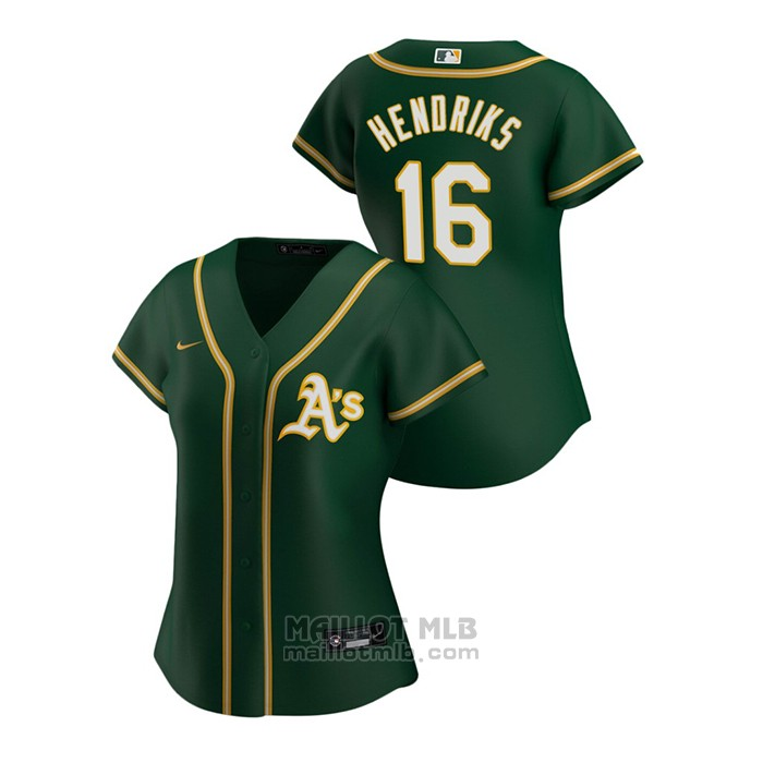 Maillot Baseball Femme Oakland Athletics Liam Hendriks 2020 Replique Alterner Vert