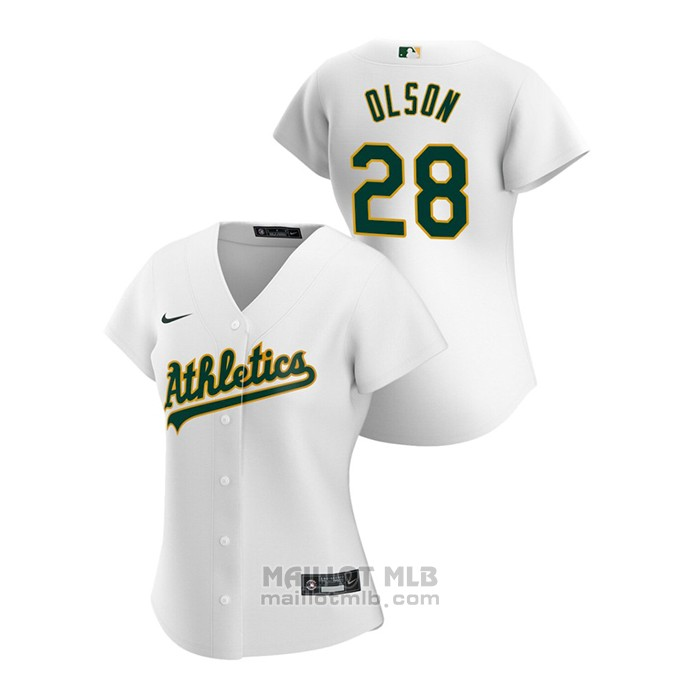 Maillot Baseball Femme Oakland Athletics Matt Olson 2020 Replique Primera Blanc