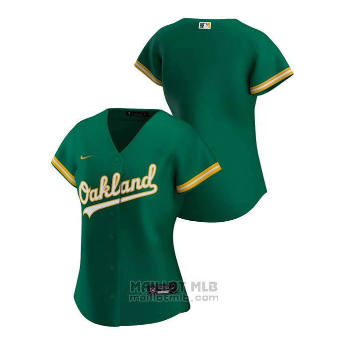 Maillot Baseball Femme Oakland Athletics Replique 2020 Alterner Vert