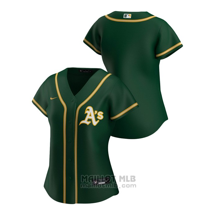 Maillot Baseball Femme Oakland Athletics Replique 2020 Alterner Vert2