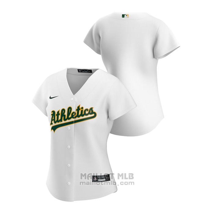 Maillot Baseball Femme Oakland Athletics Replique 2020 Primera Blanc