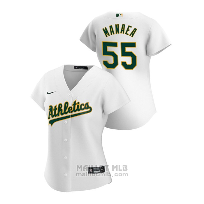 Maillot Baseball Femme Oakland Athletics Sean Manaea 2020 Replique Primera Blanc
