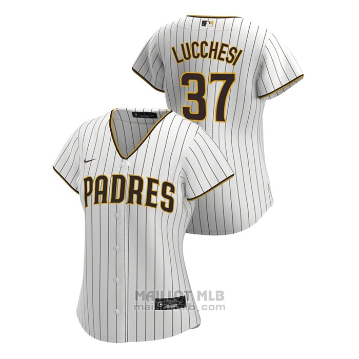 Maillot Baseball Femme San Diego Padres Joey Lucchesi Replique 2020 Primera Blanc