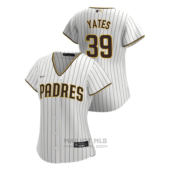 Maillot Baseball Femme San Diego Padres Kirby Yates Replique 2020 Primera Blanc