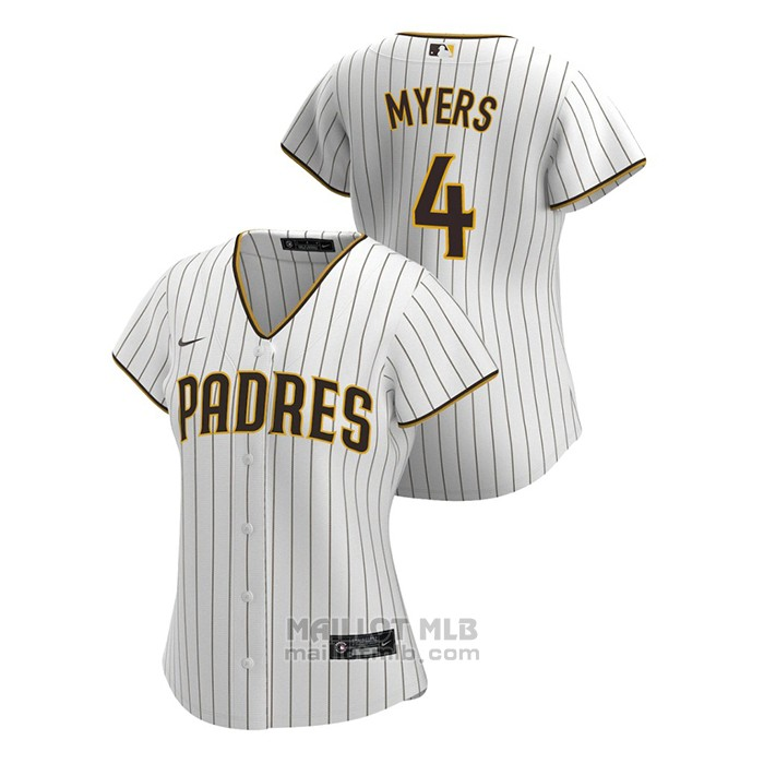 Maillot Baseball Femme San Diego Padres Wil Myers Replique 2020 Primera Blanc
