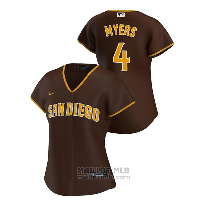 Maillot Baseball Femme San Diego Padres Wil Myers Replique 2020 Road Marron