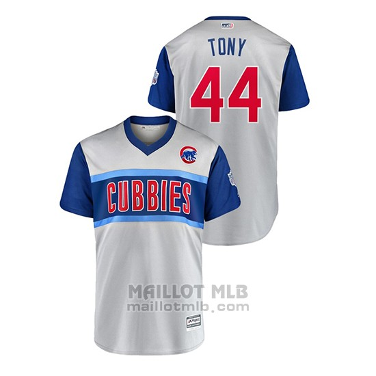 Maillot Baseball Hombre Chicago Cubs 44 Tony 2019 Little League Classic Replica Gris
