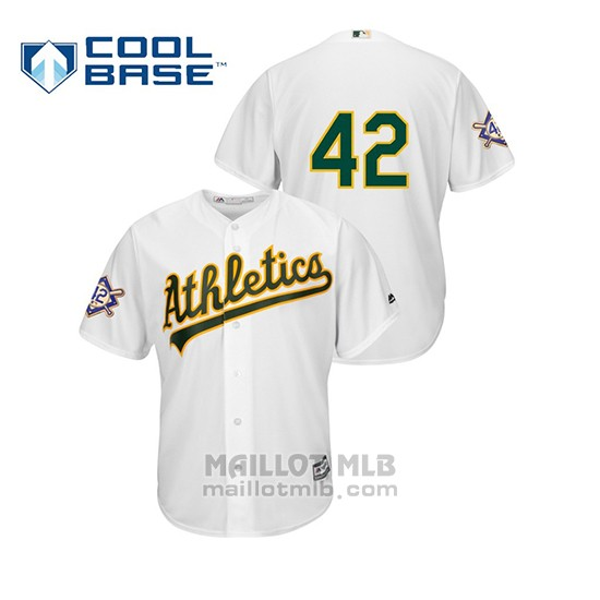 Maillot Baseball Homme Oakland Athletics 2019 Jackie Robinson Day Cool Base Blanc