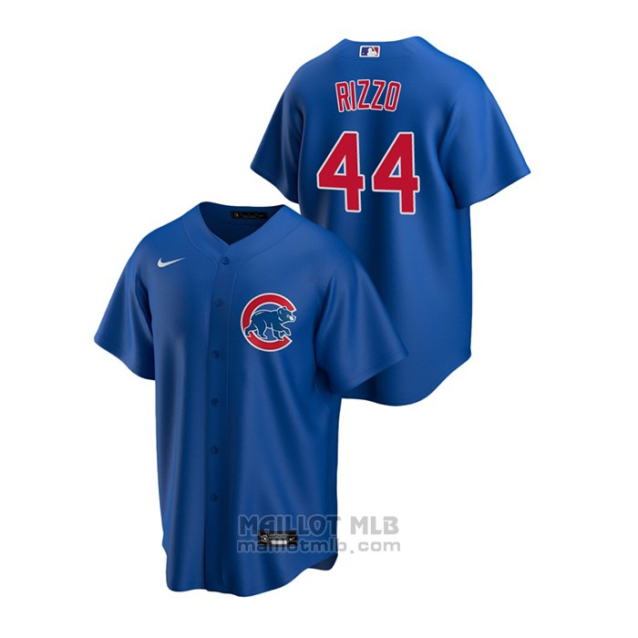 Maillot Baseball Homme Chicago Cubs Anthony Rizzo Replique Alterner Bleu