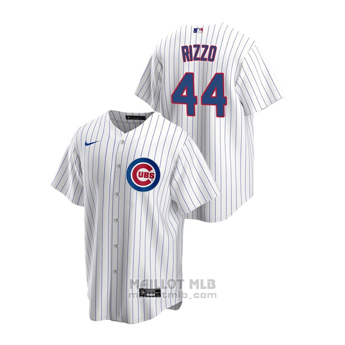 Maillot Baseball Homme Chicago Cubs Anthony Rizzo Replique Primera Blanc