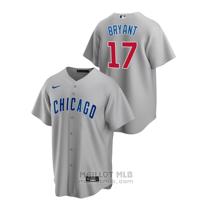 Maillot Baseball Homme Chicago Cubs Kris Bryant Replique Road Gris